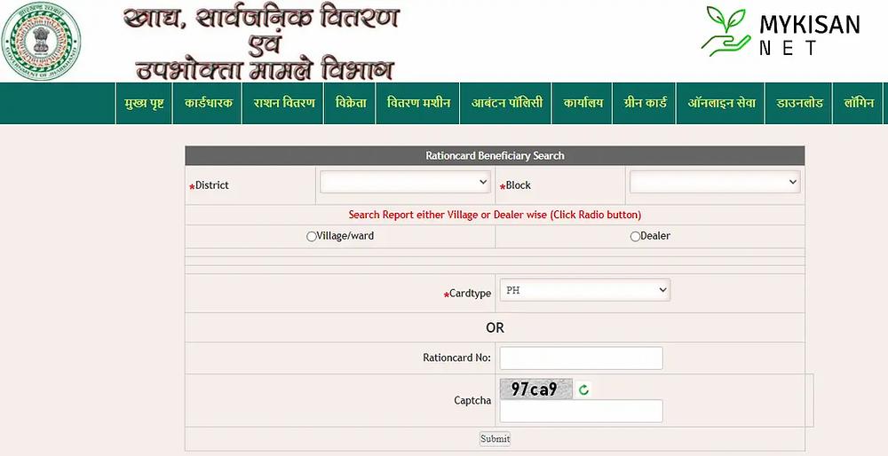Jharkhand Ration Card List 2021