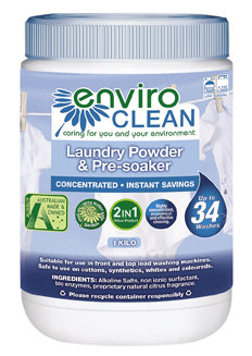 ENVIROCLEAN laundry and pre-soaker powder - 1kg