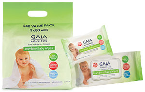 GAIA baby wipes - bulk pack