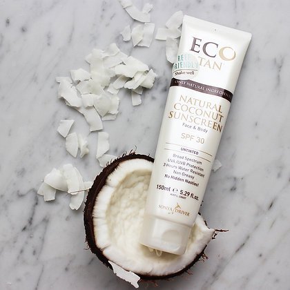 ECO TAN coconut sunscreen - untinted