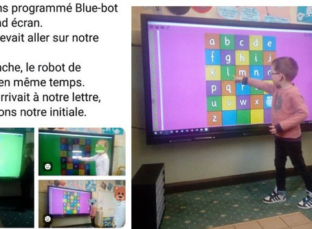 Un écran interactif au coeur d'un cours de programmation à l'école maternelle