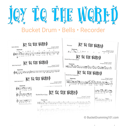 Joy to the World | Bucket Drum, Recorder, Bells