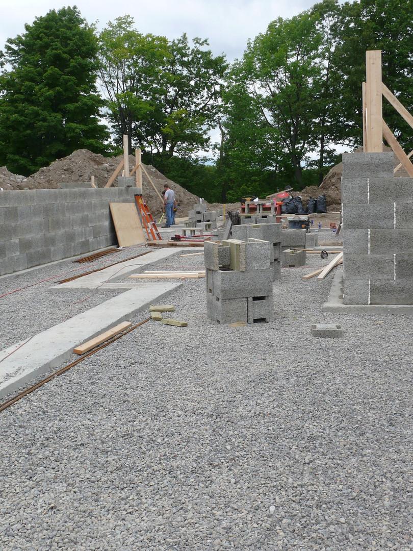 Basement walls underway for a Nexcem ICF home