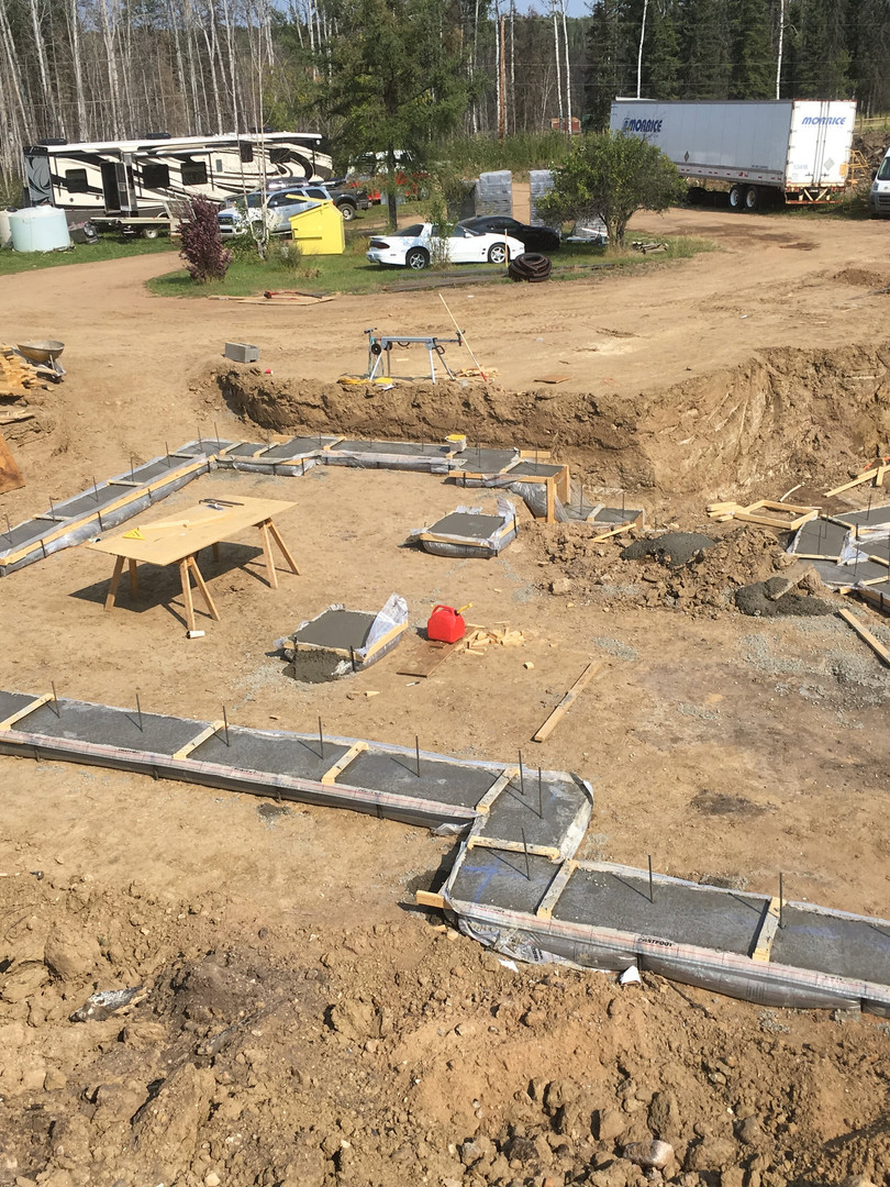 Footings in place for a Nexcem ICF home