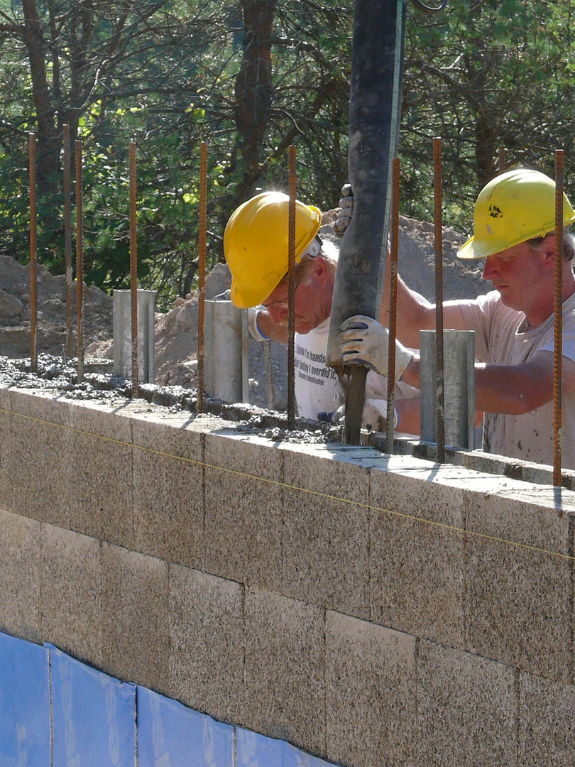 Pumping concrete into Nexcem ICF walls
