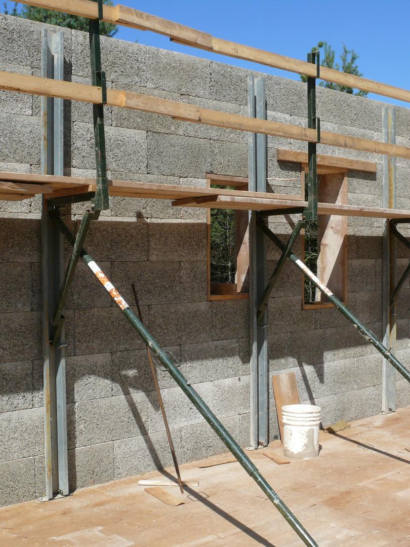 Nexcem ICF walls with bracing