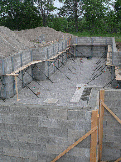 Completed basement using Nexcem ICF