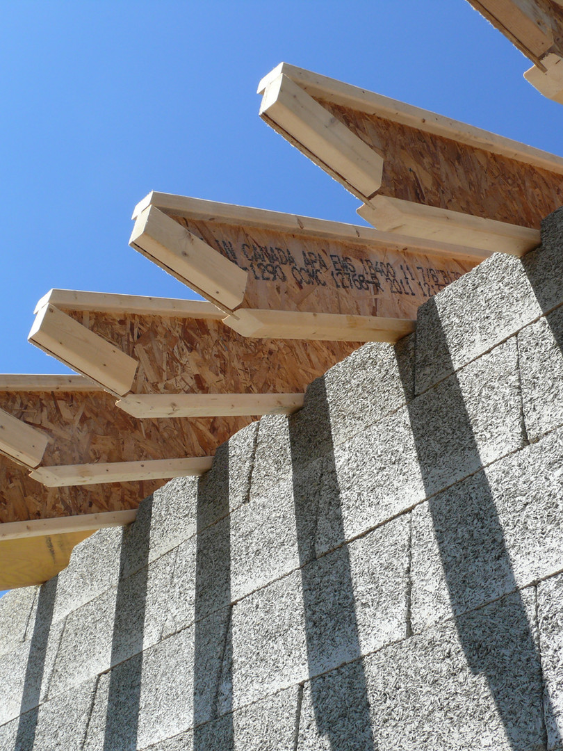 Integrating Nexcem ICF walls with the roof