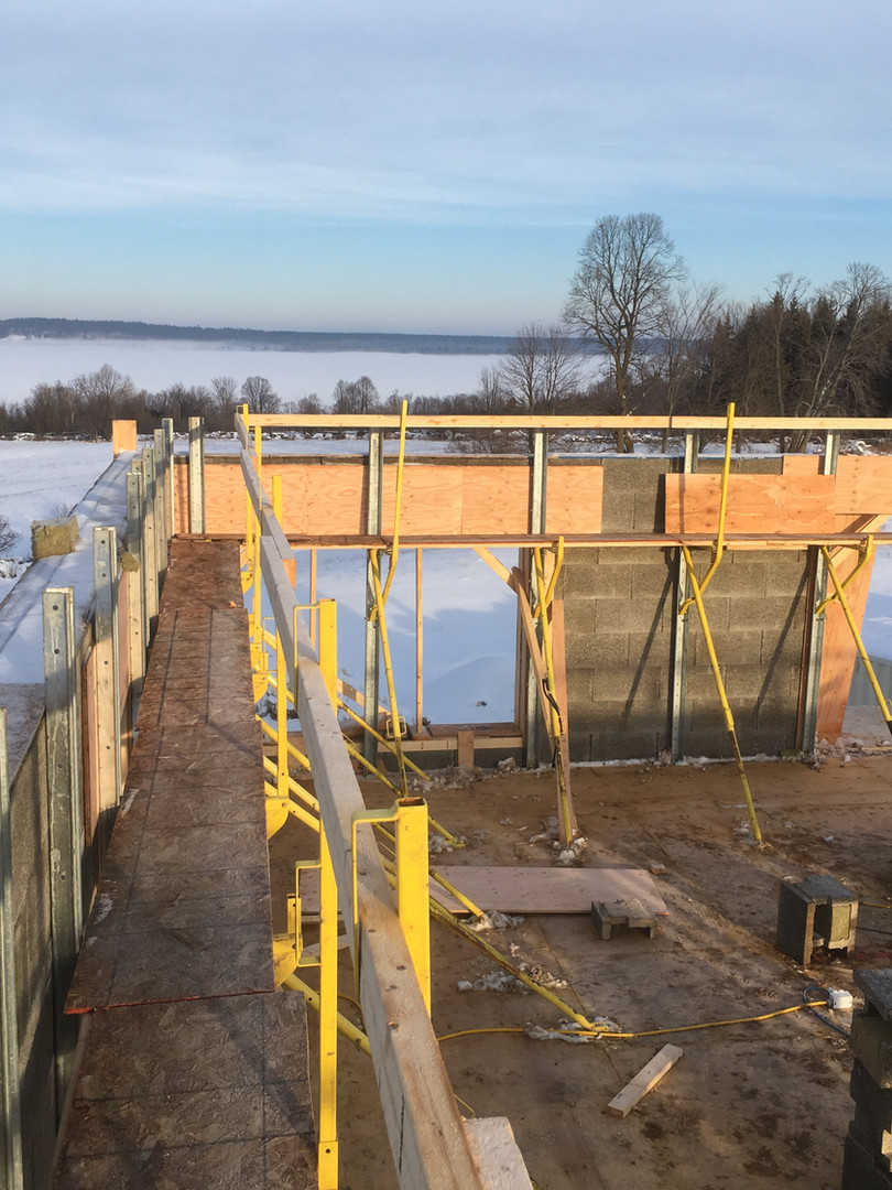 Lake views from a Nexcem ICF build