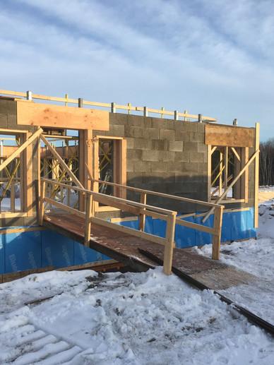 A winter build with Nexcem ICF