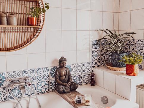 Badkamer herfst klaar gemaakt