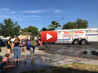 Burn Survivor Receives Drive-by Parade for 11th Birthday