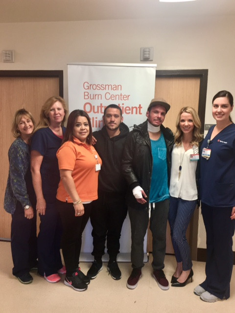 Pictured (left to right) Kathleen Connolly, RN, Amy Hedden, RN, Rosa Gutierrez, Outpatient Coordinator, David & Ray, Lesley Angle, PA,-C and Ticyanna Clark, RN - GBC at Memorial Hospital