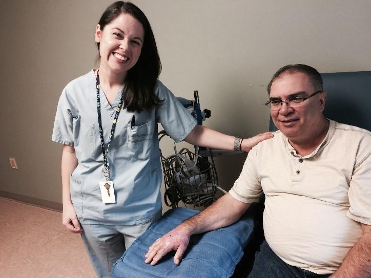 Dr. Garcia and Charles Disalvo - Burn Survivor