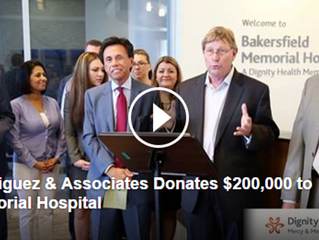 Donation to Benefit the Grossman Burn Center at Memorial Hospital