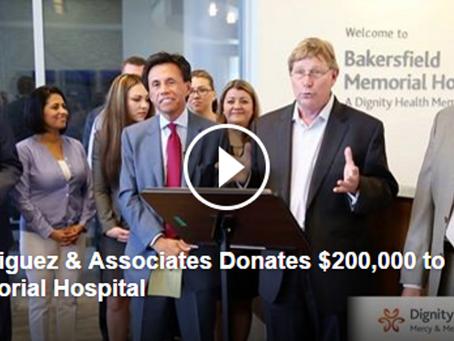 Donation to Benefit the Grossman Burn Center at Memorial Hospital