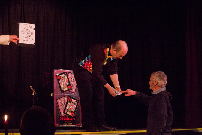 Malcolm the Magician Stage Magic
