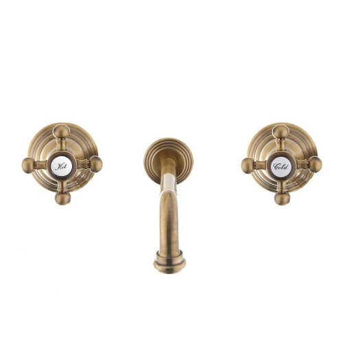 Gold Paffoni in-Wall 3-hole Sink Faucet