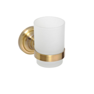 RICORDI: Gold Tooth Brush Holder with Cup