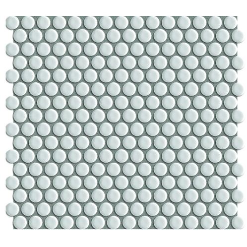 Mosaic White Gloss Circle Tile