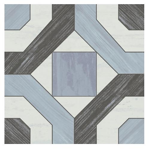 Mare Nostrum Blue & Black Pattern Tile