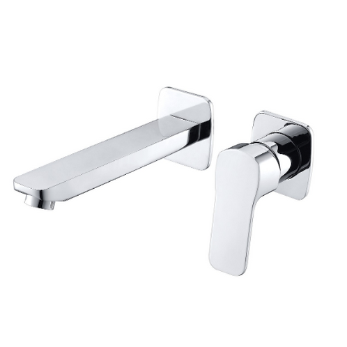 CUBE WAY 2-Hole Concealed Wall Mounted Sink Faucet