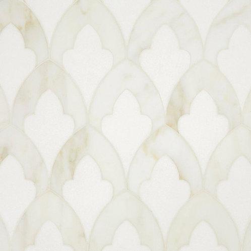 Athena Thassos Calacatta Waterjet Marble Mosaic