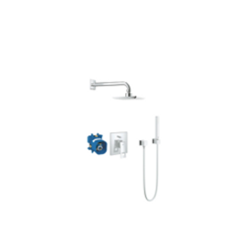 Grohe Eurocube shower system including concealed body chrome