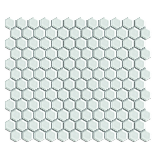 Mosaic White Gloss Hexagon Tile