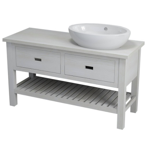 White Provence Country Double Vanity