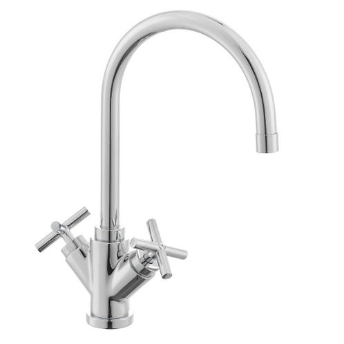 Quatro Sink Faucet cross handle Chrome