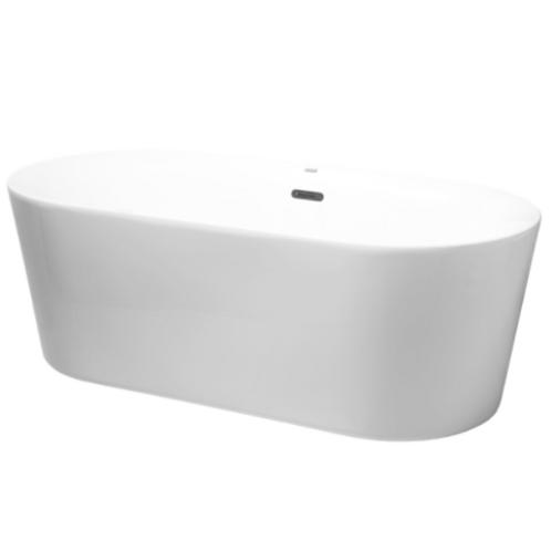 """Bathtub Zara White 169x80x61 (66.5""""x31.5""""x24"""") Acrylic"""