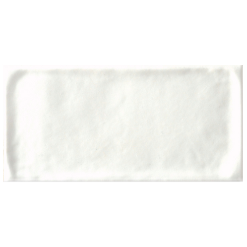 Satin Tavella Talco Subway Tile White