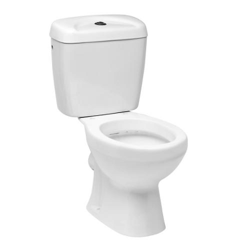 White Toilet - Rear Waste