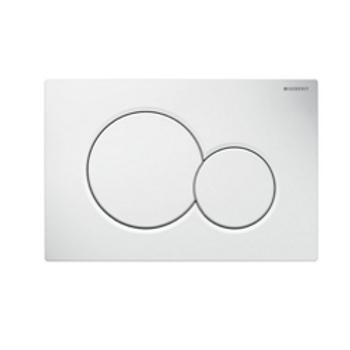 White Toilet Button