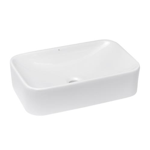White Rectangle Ceramic Vessel Sink