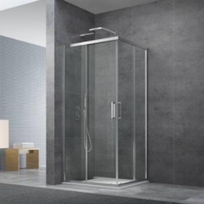 Square Shower Glass Enclosure 90cm
