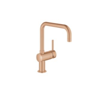 Grohe Minta sink mixer with swivel arm brushed Warm Sunset