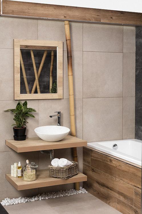 Light Wood Vanity Shelf Medium