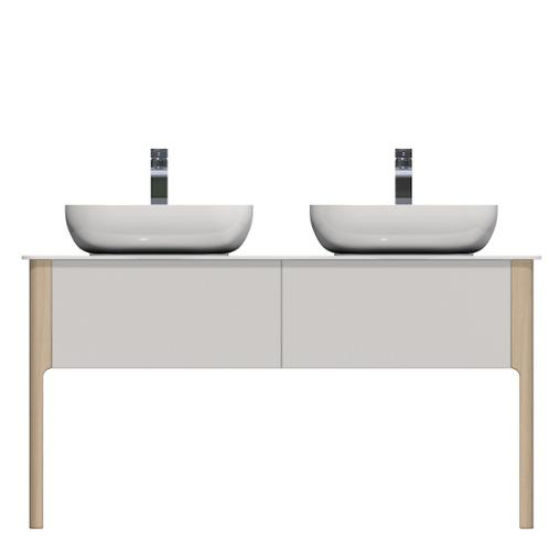 Scandinavian Double Vanity 138x55x72.5cm
