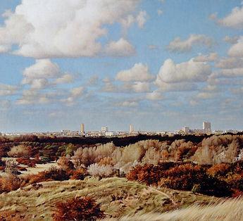 Iša Ondráček - Landschappen - 'Gezicht op Zandvoort'