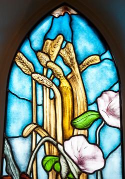 Detail glas-in-lood raam #3