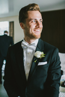groom in tuxedo wedding day wedding photography the london west hollywood los angeles