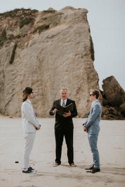 gay wedding ceremony on the beach wedding photography point dume beach malibu california