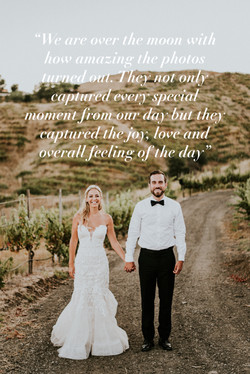 bride and groom posed holding hands vineyard wedding day wedding photography los angeles