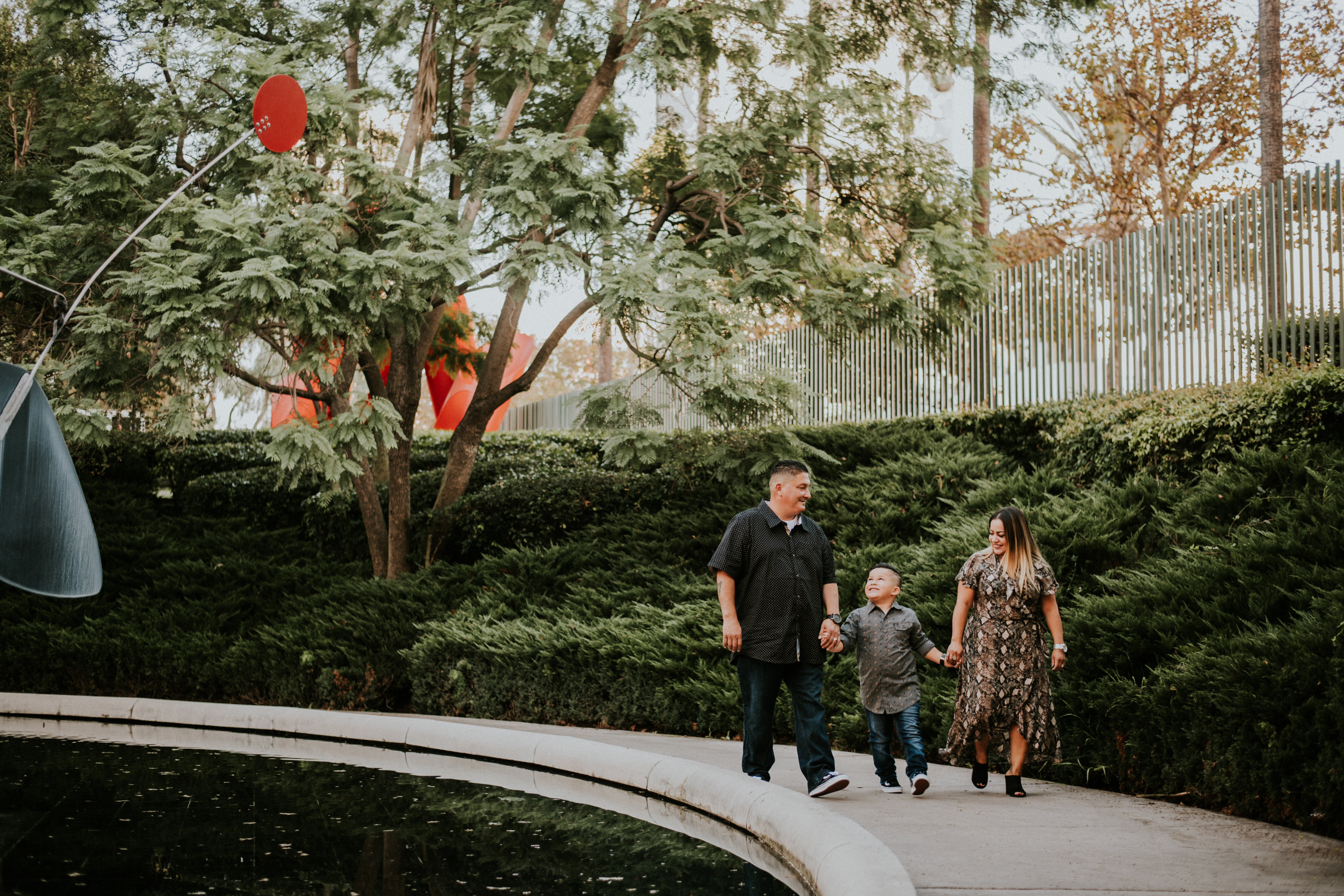 family walking in city park family photography los angeles california