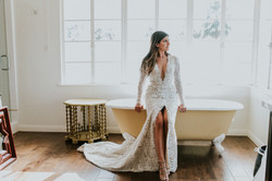 bride in wedding dress wedding photography colony palms palm springs