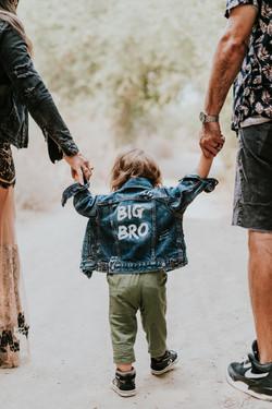 big brother jean jacket pregnancy photos maternity photography los angeles california