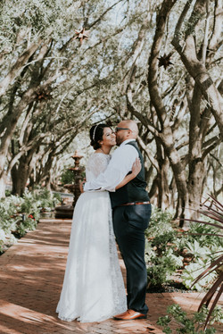 bride and groom first look hugging wedding day photography california wedding photographer