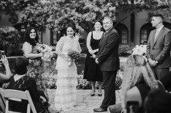 bride and groom at wedding ceremony wedding day photography at the langham pasadena california